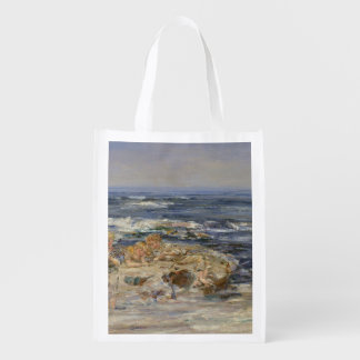 The Atlantic Surf, 1899 (oil on canvas) Reusable Grocery Bag