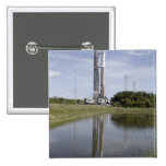 The Atlas V/Centaur arrives on the launch compl 2 Inch Square Button