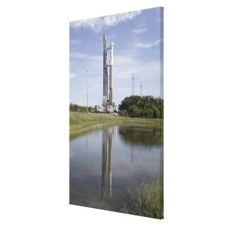 The Atlas V/Centaur arrives on the launch compl Canvas Print