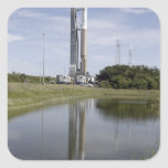 The Atlas V/Centaur arrives on the launch compl Square Sticker