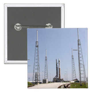 The Atlas V/Centaur rocket at the launch comple Button