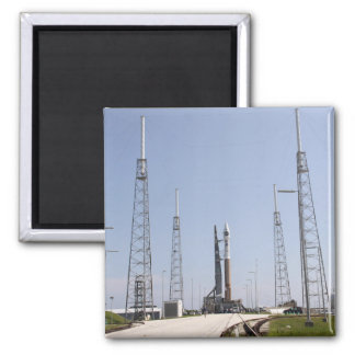 The Atlas V Centaur rocket at the launch comple Fridge Magnet