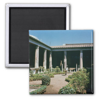 The Atrium, House of the Vettii 2 Inch Square Magnet