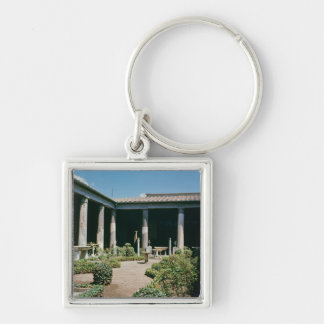 The Atrium, House of the Vettii Silver-Colored Square Keychain