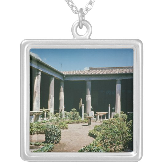 The Atrium, House of the Vettii Silver Plated Necklace