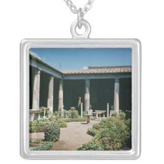 The Atrium, House of the Vettii Square Pendant Necklace
