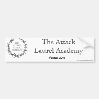 The Attack Laurel Academy Car Bumper Sticker