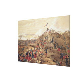 The Attack on the Malakoff, plate from 'The Seat o Canvas Print
