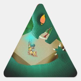 The Attack Triangle Sticker