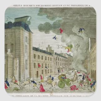 The Attempted Assassination of Napoleon Bonaparte Square Sticker