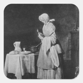 The Attentive Nurse, c.1738 Square Sticker