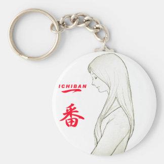 The attractive woman ICHIBAN of Japan Basic Round Button Keychain