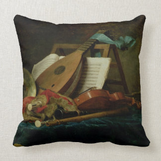 The Attributes of Music, 1770 (oil on canvas) Throw Pillow