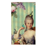 Thé au Petit Trianon on ivory with teapot Double-Sided Standard Business Cards (Pack Of 100)