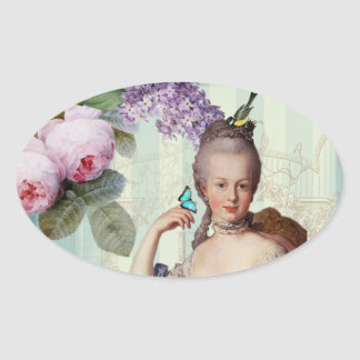 Thé au Petit Trianon Oval Sticker
