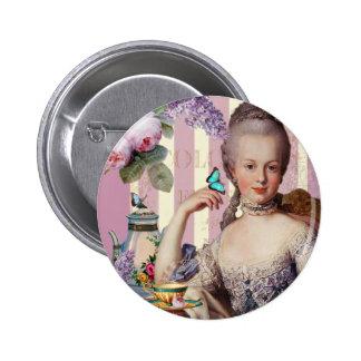 Thé au Petit Trianon – rose 2 Inch Round Button