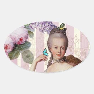 Thé au Petit Trianon – rose  alt design Oval Sticker