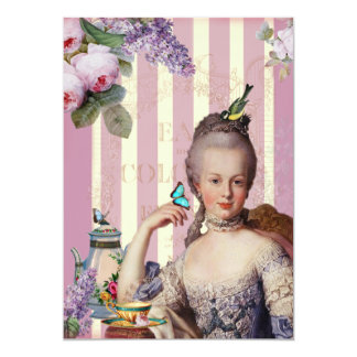 Thé au Petit Trianon - rose - Card