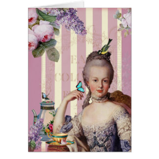Thé au Petit Trianon – rose Happy Birthday Card