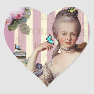 Thé au Petit Trianon – rose Heart Sticker