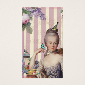 Thé au Petit Trianon – rose on ivory Business Card