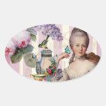 Thé au Petit Trianon – rose Oval Stickers