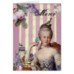 Thé au Petit Trianon – rose  - thank you Greeting Card
