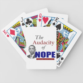 The Audacity of NOPE! Bicycle Playing Cards