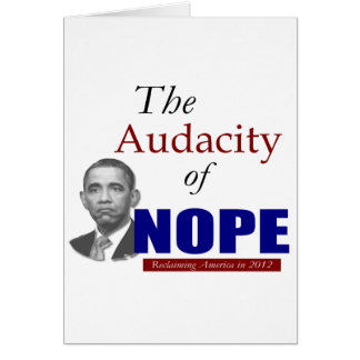 The Audacity of NOPE! Card