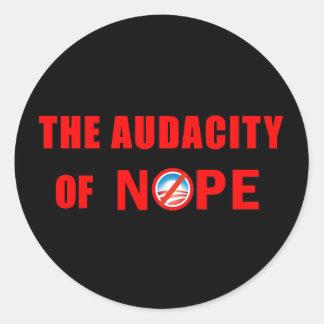 The Audacity of NOPE Classic Round Sticker