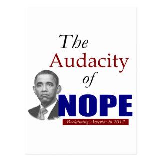 The Audacity of NOPE! Postcard