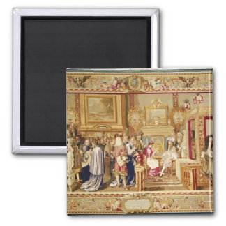 The Audience of Cardinal Chigi with Louis XIV Magnet