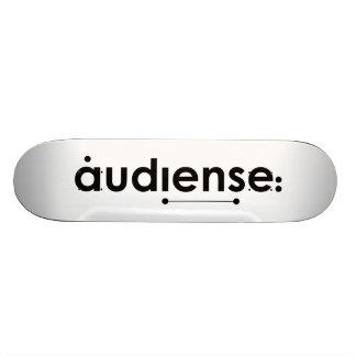 the audiense way! skateboard