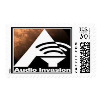 The Audio Invasion 1st class postage stamp