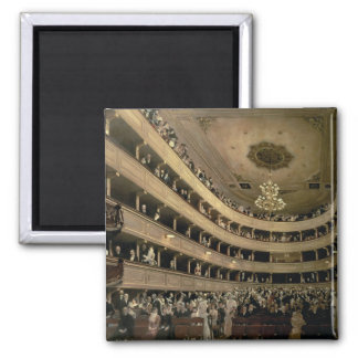 The Auditorium of the Old Castle Theatre, 1888 2 Inch Square Magnet