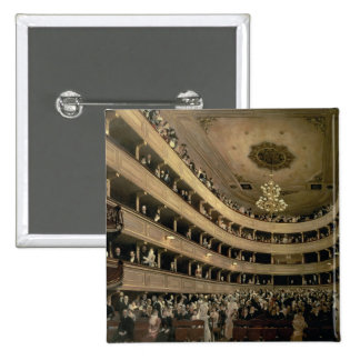The Auditorium of the Old Castle Theatre, 1888 Pinback Button