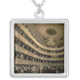 The Auditorium of the Old Castle Theatre, 1888 Square Pendant Necklace
