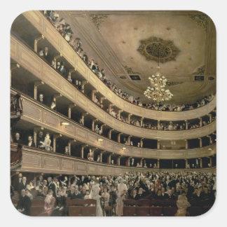 The Auditorium of the Old Castle Theatre, 1888 Square Sticker