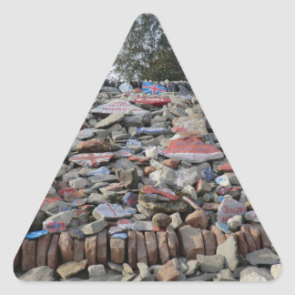 The Auld Acquaintance Cairn, Gretna, Scotland Triangle Sticker