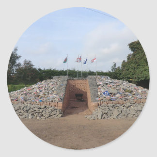 The Auld Acquaintance Cairn - Testimony to the UK Classic Round Sticker