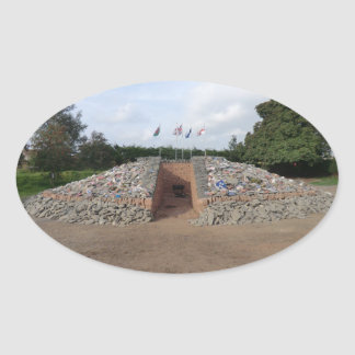 The Auld Acquaintance Cairn - Testimony to the UK Oval Sticker