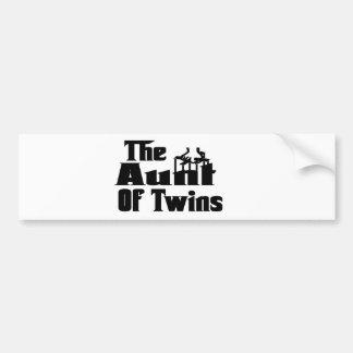 The AUNT of TWINS Car Bumper Sticker