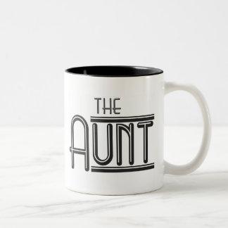 """THE"" Aunt Two-Tone Coffee Mug"