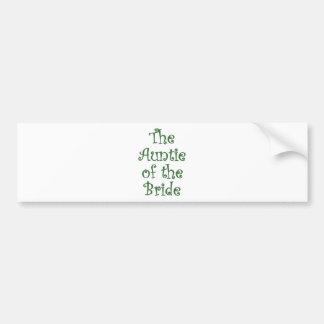 The Auntie of the Bride Bumper Sticker