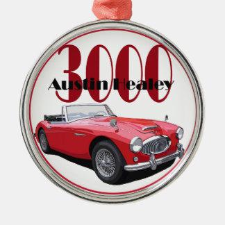 The Austin Healey 3000 Christmas Ornaments
