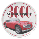 The Austin Healey 3000 Party Plates