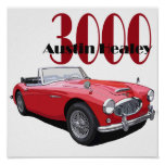 The Austin Healey 3000 Poster
