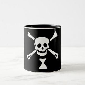 The authentic pirate flag of Emanuel Wynne Two-Tone Coffee Mug