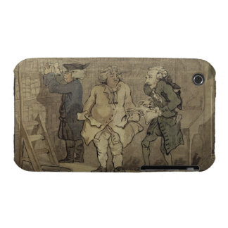 The Author and his Publisher, 1784 (grey wash and Case-Mate iPhone 3 Case