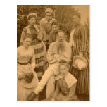 The author Leo Tolstoy with his family Postcard